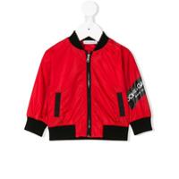 Dolce & Gabbana Kids logo print bomber jacket - Red