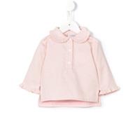 Cashmirino Peter Pan collar blouse - Pink & Purple