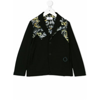 Young Versace Signature print jacket - Black