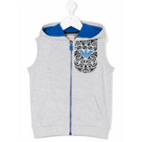 Armani Junior printed hooded vest - Grey