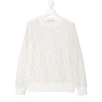 Nunzia Corinna TEEN lace sweatshirt - White