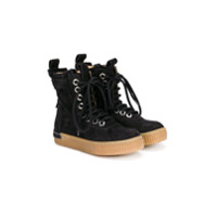 Cinzia Araia Kids mid-calf lace-up boots - Black