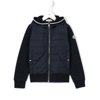 Moncler Kids padded panel fleece jacket - Blue