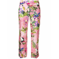 F.R.S For Restless Sleepers floral print cropped pyjama bottoms - Pink & Purple