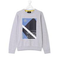 Hackett Kids Aston Martin printed sweatshirt - Grey