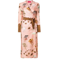 F.R.S For Restless Sleepers embroidered lounge gown - Pink & Purple