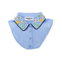 Essentiel Antwerp embellished removable collar - Blue