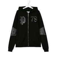 Philipp Plein Junior Teen zipped hoodie - Black
