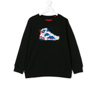 Mostly Heard Rarely Seen 8-Bit GO FOR THE GOLD SNEAKER sweatshirt - Black