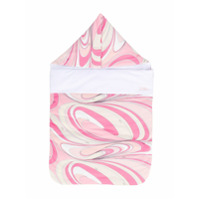 Emilio Pucci Junior swirl print sleeping bag - Pink & Purple