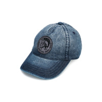 Diesel Kids badge detail cap - Blue