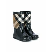 Burberry Kids House Check rain boots - Black