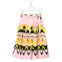 Emilio Pucci Junior geometric swirl print skirt - Pink & Purple