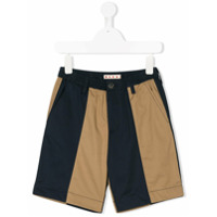 Marni Kids contrast panel shorts - Blue
