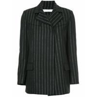 Tiko Paksa metallic striped blazer - Black