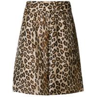 Alberto Biani leopard print shorts - Brown