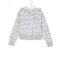 Dkny Kids logo zip hoodie - Grey