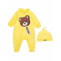 Moschino Kids teddy bear pajamas - Yellow & Orange