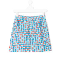 Mc2 Saint Barth Kids TEEN printed swim shorts - Blue
