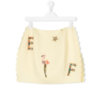 Elisabetta Franchi La Mia Bambina sequin embellished skirt - Yellow & Orange