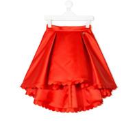 Elisabetta Franchi La Mia Bambina high low skirt - Yellow & Orange