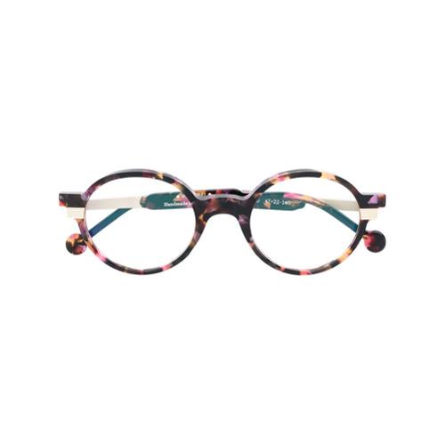 Bild på Res Rei patterned round glasses - Brown