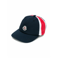 Moncler Kids color block cap - Blue