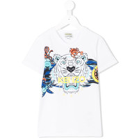 Kenzo Kids sea creature Tiger print T-shirt - White