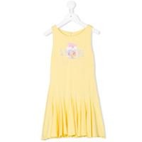 Lapin House Love print dress - Yellow & Orange