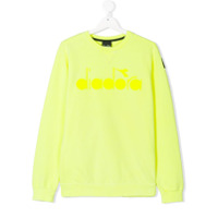 Diadora Junior TEEN logo sweatshirt - Yellow & Orange