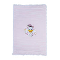 Monnalisa Donald Duck striped scarf - Pink & Purple