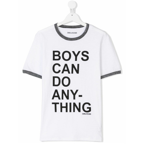 Billede af Zadig & Voltaire Kids Boys Can Do Anything print T-shirt - White