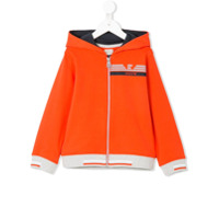 Armani Junior colour-block zip-up hoodie - Yellow & Orange