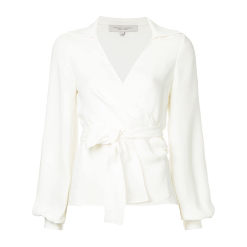 Billede af Carolina Herrera bishop sleeve wrap blouse - White