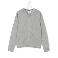 Zadig & Voltaire Kids TEEN logo print hoodie - Grey
