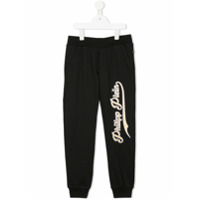Philipp Plein Junior embroidered logo sweatpants - Black