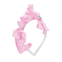 Simonetta bow detail headband - Pink & Purple