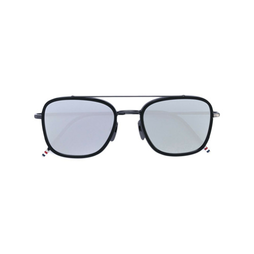 Bild på Thom Browne Eyewear Black Iron & Dark Grey Sunglasses