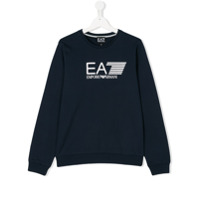 Ea7 Kids Teen logo sweatshirt - Blue