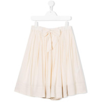 Bellerose Kids TEEN bow front pleated skirt - White