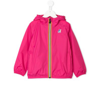 K Way Kids logo stripe jacket - Pink & Purple