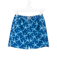 Mc2 Saint Barth Kids TEEN sea star swim shorts - Blue