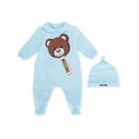 Moschino Kids teddy bear pajamas - Blue