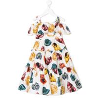 Dolce & Gabbana Kids sea shell print dress - White