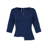 Gloria Coelho cut out blouse - Blue