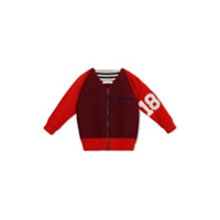 Burberry Kids Merino Wool and Cotton Baseball Jacket - Red