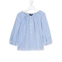 Ralph Lauren Kids striped smocked top - Blue