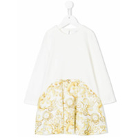 Young Versace printed dress - White