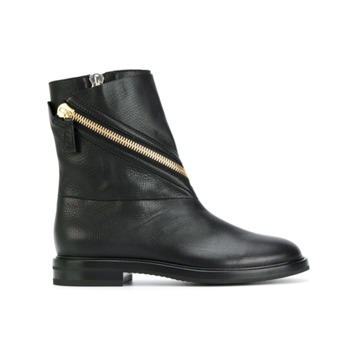 Bild på Casadei asymmetric zip ankle boots - Black