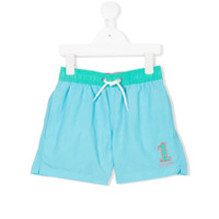 Hackett Kids embroidered logo swim shorts - Blue